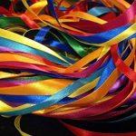 Glitterati Lot ruban satiné 40metre X Lot mixte avec couleurs assorties en satiné, une largeur maximale de 2.5m X 2x 8couleurs assorties de la marque Glitterati image 1 produit