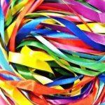Glitterati Lot ruban satiné 40metre X Lot mixte avec couleurs assorties en satiné, une largeur maximale de 2.5m X 2x 8couleurs assorties de la marque Glitterati image 2 produit
