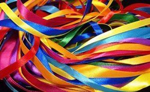 Glitterati Lot ruban satiné 40metre X Lot mixte avec couleurs assorties en satiné, une largeur maximale de 2.5m X 2x 8couleurs assorties de la marque Glitterati image 0 produit