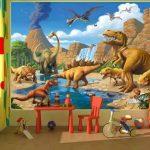 GREAT ART Affiche Dinosaure murale chambres enfants Décoration murs comiquel aventure Dino mondiale style jungle cascade Dinosaurus | mur deco Poster mural Image by (140 x 100 cm) de la marque GREAT ART image 1 produit
