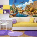 GREAT ART Affiche Dinosaure murale chambres enfants Décoration murs comiquel aventure Dino mondiale style jungle cascade Dinosaurus | mur deco Poster mural Image by (140 x 100 cm) de la marque GREAT ART image 4 produit