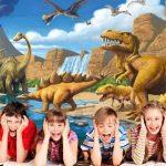 GREAT ART Affiche Dinosaure murale chambres enfants Décoration murs comiquel aventure Dino mondiale style jungle cascade Dinosaurus | mur deco Poster mural Image by (140 x 100 cm) de la marque GREAT ART image 2 produit