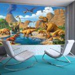 GREAT ART Affiche Dinosaure murale chambres enfants Décoration murs comiquel aventure Dino mondiale style jungle cascade Dinosaurus | mur deco Poster mural Image by (140 x 100 cm) de la marque GREAT ART image 3 produit