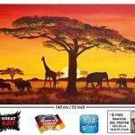 GREAT ART Papier peint photo Coucher du Soleil en Afrique - African Sunset - image murale de Safari en Afrique - décoration murale XXL 140 cm x 100 cm de la marque GREAT ART image 1 produit