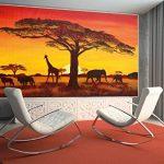 GREAT ART Papier peint photo Coucher du Soleil en Afrique - African Sunset - image murale de Safari en Afrique - décoration murale XXL 140 cm x 100 cm de la marque GREAT ART image 4 produit
