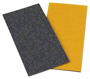 haggiy Chaise glisses - Plaque de feutre auto-adhésif, 100 x 200 mm - 5,0 mm d'épaisseur, gris de la marque haggiy image 0 produit