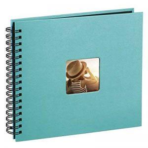 Hama 10607 Album Photo Fine Art, 50 Pages Noires (25 Pages), Album à Spirales 36 X 32 cm, avec Découpe pour y Mettre une Photo, Turquoise de la marque Hama image 0 produit