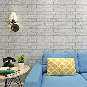 HANMERO Papier Peint Adhésif Autocollant-2m*0.45m-Vintage Motif de Brique Vinyle PVC pour Cuisine Meuble Sticker Mural de la marque HANMERO image 0 produit