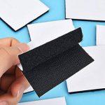 Hestya 24 Pièces Ruban Adhésif Double Face Noir Boucle Forte de Crochet Amovible Rubans de Fixation Adhésifs Muraux, 2.4 par 2.4 Pouces de la marque Hestya image 4 produit