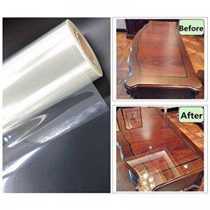 Hoho transparente brillant Scratch film de protection 2mil meubles Autocollant de protection anti Huile de cuisine Maison Décoration (152cmx50cm) de la marque HOHO image 0 produit
