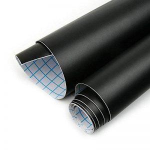 Horleora wall stickers mureaux style tableau noir en vinyle autocollant Menu de restaurant Bureau Papier peint Cuisine(44.5*200cm,black) de la marque Horleora image 0 produit