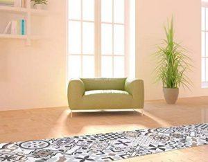Huella Deco® - H1511 - Tapis de chemin couloir en vinyle antidérapant mosaïque motif « Cementine » 50X100 cm de la marque Huella Deco image 0 produit