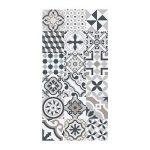 Huella Deco® - H1511 - Tapis de chemin couloir en vinyle antidérapant mosaïque motif « Cementine » 50X100 cm de la marque Huella Deco image 1 produit
