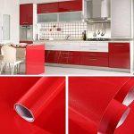 Humtool 5×0,61M Rouge Papier Peint Autocollant Rouleau Adhésif Sticker Mural Etanche pour Armoire Cuisine Meuble Electroménager Carreaux Mur Verre en PVC de la marque Humtool image 1 produit