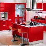 Humtool 5×0,61M Rouge Papier Peint Autocollant Rouleau Adhésif Sticker Mural Etanche pour Armoire Cuisine Meuble Electroménager Carreaux Mur Verre en PVC de la marque Humtool image 3 produit