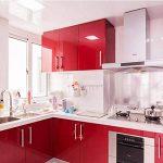 Humtool 5×0,61M Rouge Papier Peint Autocollant Rouleau Adhésif Sticker Mural Etanche pour Armoire Cuisine Meuble Electroménager Carreaux Mur Verre en PVC de la marque Humtool image 4 produit