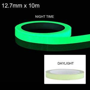 ionlyou 10m Ruban Adhésif Lumineux Vert Brillant, Ruban Autocollant Fluorescent Amovible, Étanche, Photoluminescent de la marque ionlyou image 0 produit