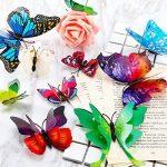 ivencase 96Pcs Stickers Muraux Papillons (Tailles Différentes) pour décoration de Maison, de Pièce, Réfrigérateur et Meuble, 3D Papillons Papiers Décoration, Autocollants de Papillons / Artisanat / Bricolage avec Aimant et Mastic, Amovible Réutilisable - image 4 produit