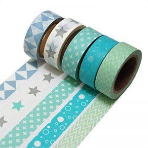 K-LIMIT 5 Set Washi Tape rouleaux de ruban adhésif décoratif masking tape scrapbooking, DIY 9811 de la marque k-limit image 0 produit