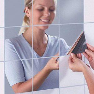 KE Miroirs décoratifs 16PCS bricolage auto-adhésif carreaux de mosaïque Miroir Miroir Stickers Muraux Décor 15 * 15cm de la marque KE Quality Shop image 0 produit