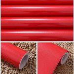 KINLO 5*0.61M Papier Peint Auto-Adhésif Rouge pour Armoire de Cuisine en PVC Imperméable Style Moderne Stickers Autocollant Muraux Étanche Décoration pour Chambre Salon Meuble de la marque KINLO image 4 produit