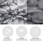 KINLO 5*0.61M Papier Peint Marbre Adhésif Noir en PVC Sticker Meuble Imperméable Sticker Cuisine Autocollant pour Armoire Porte Placard Cuisine Carreaux Salle de Bain de la marque KINLO image 2 produit
