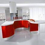 KINLO 5M Papier Peint Adhésif Rouleaux Reconditionné pour Armoires de Cuisine en PVC Self Adhesive Autocollant Meubles Porte Mur Placards Stickers Mural - Rouge de la marque KINLO image 4 produit