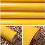 KINLO Adhésifs Décoration Cuisine Papier Peint Autocollant 1 Rouleau 0,61 x 5 m Jaune Stickers Mural Porte Film Vinyle pour Meuble Frigo Placard Armoire Etagère à Coller de la marque KINLO image 2 produit