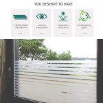 KINLO Film Vitre 90X200CM Électrostatique Protéger Intimité en PVC Film Fenêtre Autocollant Sans Colle Plus Large Sticker Fenêtre Anti-UV pour Bureau Maison Salle de Bain-Verre Dépoli Anti-regard de la marque KINLO image 1 produit