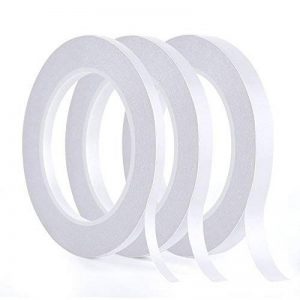 Kuuqa 3 rouleaux double face ruban ensemble solide bande collante pour bureau bricolage Artisanat, 30 mètres de long, large 6mm / 9mm / 12mm de la marque KUUQA image 0 produit