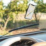 kwmobile 3X Pastille Adhésive Universelle - Vignette Gel Autocollant Double-Face antidérapant Silicone Noir - Support pour Smartphone navigateur GPS de la marque kwmobile image 1 produit