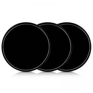 kwmobile 3X Pastille Adhésive Universelle - Vignette Gel Autocollant Double-Face antidérapant Silicone Noir - Support pour Smartphone navigateur GPS de la marque kwmobile image 0 produit