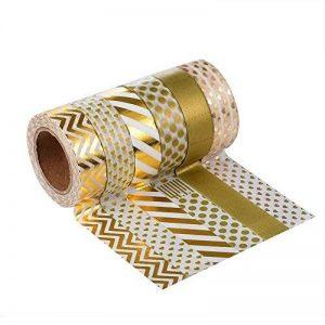 LATH.PIN 6 rouleaux Washi Tape Masking tape- Ruban Adhésif Papier Décoratif – 15mm x 10M de la marque LATH.PIN image 0 produit