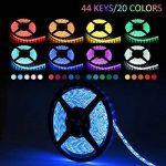 LEDMO RGB Ruban LED Kit 12V DC, 300 LEDs, IP65 Lumières Bande LED étanches bande LED 5m ruban LED + 44 Télécommande IR clé inclus, Lumières RVB Ruban LED multicolores, éclairage de décoration de fête et pour l'éclairage de cuisine à domicile. de la marque image 3 produit