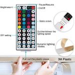 LEDMO Ruban led RGB, bande led SMD 5050,led bande lumineuse RGB IP65 imperméable ,Bande Lumineuse LED ,300LEDs ,Pack de 5M(16.4 ft) , Inclure IR boîtier de commande à distance,Adaptateur EU de la marque LEDMO image 2 produit