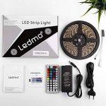 LEDMO Ruban led RGB, bande led SMD 5050,led bande lumineuse RGB IP65 imperméable ,Bande Lumineuse LED ,300LEDs ,Pack de 5M(16.4 ft) , Inclure IR boîtier de commande à distance,Adaptateur EU de la marque LEDMO image 4 produit