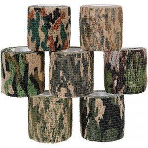 Lictin 7 PCS Ruban Adhésif Bande de Camouflage Réutilisable Camouflage Tapes Auto-adhésif Non-tissé Pour la Décoration des Objets Vert de la marque Lictin image 0 produit