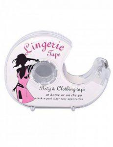 Lingerie Tape, Ruban adhésif double face, Pour invisible pour lingerie Vêtements femmes chemise soutien-gorge Ruban adhésif magnétique avec dérouleur de la marque TAOHUIEU image 0 produit
