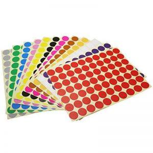 LJY 19mm Round Dot Autocollants Etiquettes de codage couleur, 12 couleurs assorties différentes étiquettes collantes, 12 feuilles de la marque LJY image 0 produit