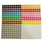 LJY 19mm Round Dot Autocollants Etiquettes de codage couleur, 12 couleurs assorties différentes étiquettes collantes, 12 feuilles de la marque LJY image 1 produit