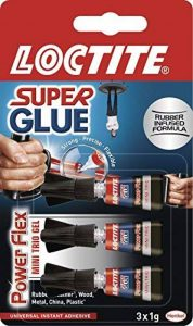 Loctite 18857343g Super Glue Mini Trio, gel puissant flexible, transparent. de la marque Loctite image 0 produit