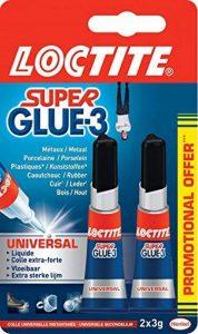 Loctite Colle forte/Super Glue 3 - Universal - 2 x 3g de la marque Loctite image 0 produit