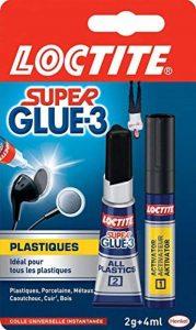 Loctite Colle liquide transparente spéciale plastique Super Glue-3-1 x tube 2 g + stylo 4 ml de la marque Loctite image 0 produit