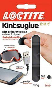 Loctite Kintsuglue - Pâte à réparer flexible et modelable - Répare, crée, reconstitue, fixe, et protège vos objets du quotidien - 3 x 5g - Noir de la marque Loctite image 0 produit
