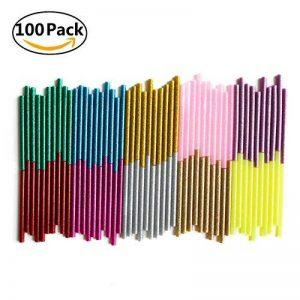 Lot de 100 bâtons de colle pailletées pour pistolet à colle 7mm x 100mm de la marque Happy Tina image 0 produit