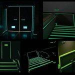 Lot de 210m x 2,5cm Glow in the Dark Vert Luminous de sécurité clair ruban adhésif autocollant lumineux dans l'obscurité fluorescent lumineux bande de marquage en de la marque MEGA-TAPE Klebebänder image 2 produit