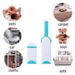 Lot de 2brosses nettoyantes anti-poils anti-bouloches pour vêtements, tapis, meubles, siège de voiture, tout type de tissu Avec base auto-nettoyante de la marque furein image 5 produit