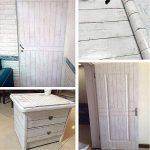 Lovefaye Bande de revêtement en papier autocollant style nordique blanc grain de bois pour meuble 45 x 298,7cm de la marque LoveFaye image 2 produit