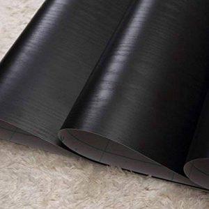 lovefaye massif en bois noir grain Contact Papier autocollant Étagère de porte meuble Comptoir Sticker 45cm par 9,8pieds de la marque LoveFaye image 0 produit