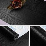 lovefaye massif en bois noir grain Contact Papier autocollant Étagère de porte meuble Comptoir Sticker 45cm par 9,8pieds de la marque LoveFaye image 2 produit